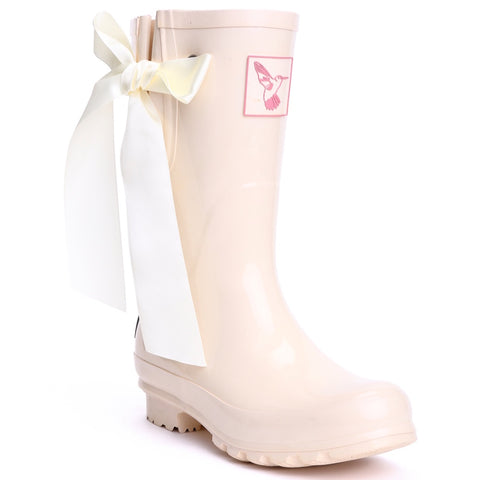 Evercreatures Ladies Wellies Short 'I Do'