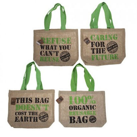 Eco Jute Shopping Bag with Quote