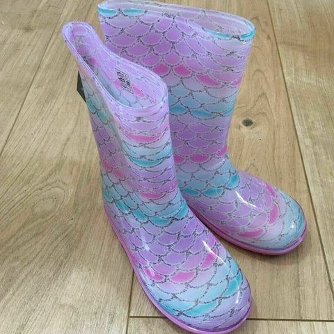 Mud Rocks Children's Wellingtons Mermaid
