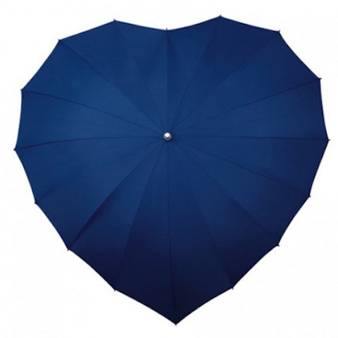 Ladies Umbrella Heart Shape Navy