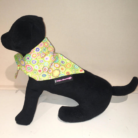 Dog Bandana Lime Paperweight Print