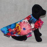 Dog Reversible Coat Pink and Blue Floral Print
