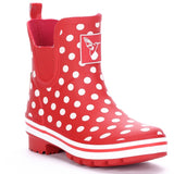 Evercreatures Ladies Ankle Wellies Polka Dot