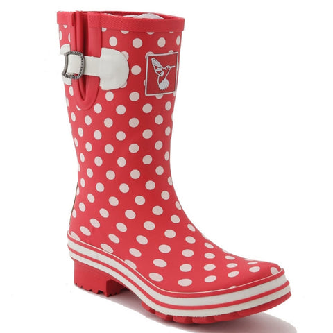 Evercreatures Ladies Short Wellies Polka Dot