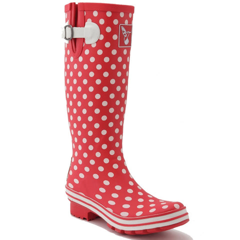 Evercreatures Ladies Wellingtons Polka Dot