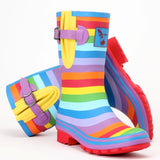 Evercreatures Ladies Short Wellies Rainbow