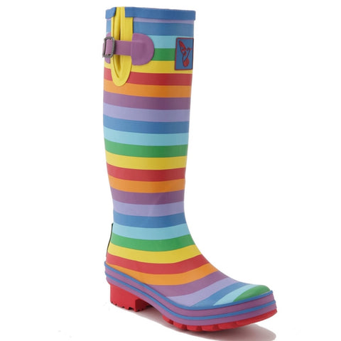 Evercreatures Ladies Wellingtons Rainbow