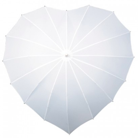 Ladies Umbrella Heart Shape White SOAKE