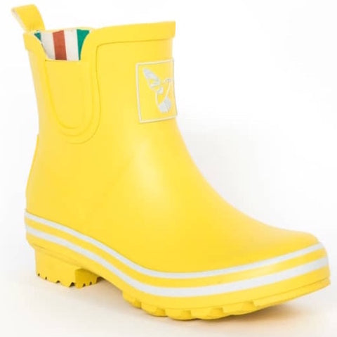 Evercreatures Ladies Ankle Wellies Yellow