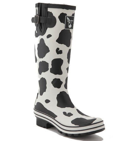 Evercreatures Ladies Wellington Cow Print