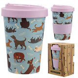 Eco Friendly Bamboo Travel Cup Dog Design