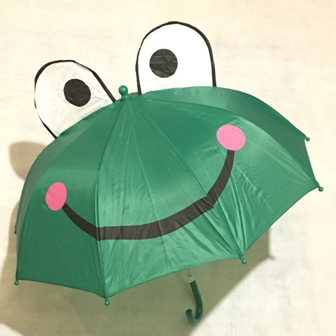 Children's Umbrella 3D Frog Design