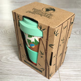 Eco Friendly Bamboo Travel Cup Sloth Design