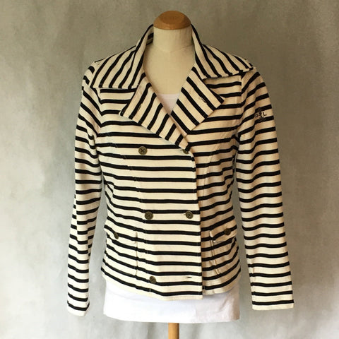 Ladies Retro Jacket Nautical Stripe