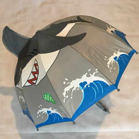 Children's Umbrella 3D Shark Design