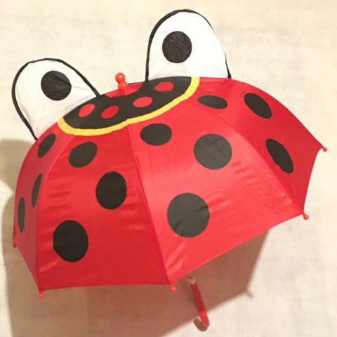 Children's Umbrella 3D Ladybird Design