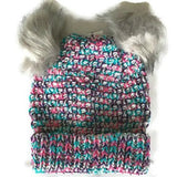Girls Winter Hat Multi Grey
