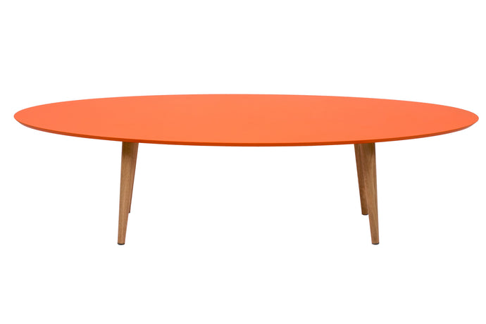 Hees Coffee Table in Colour MDF and Oak Legs | BIRBA