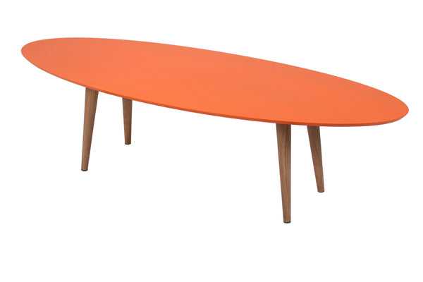 Hees Coffee Table in Colour MDF and Oak Legs