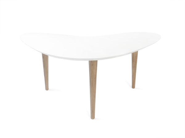 Moore Table in Colour MDF and Oak Legs