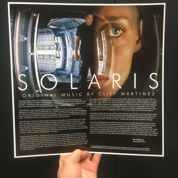 Cliff Martinez - SOLARIS Original Soundtrack Reissue [Crystal Clear With Heavy White Splatter Vinyl]