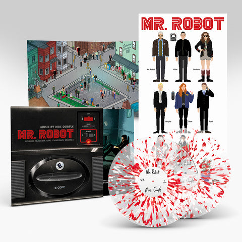 PRE-SALE: MR ROBOT ORIGINAL MUSIC BY MAC QUAYLE: VOLUME 3 (DELUXE 2 X CLEAR VINYL W/RED AND WHITE SPLATTER EFFECT)