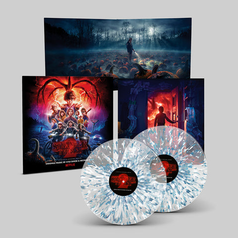 PRE-SALE: Stranger Things 2 (A Netflix Original Series Soundtrack) - [2 x Crystal Clear Vinyl w/ Blue & White Splatter]