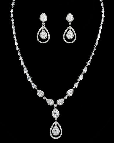 Double Tear Drop Jewelry Set