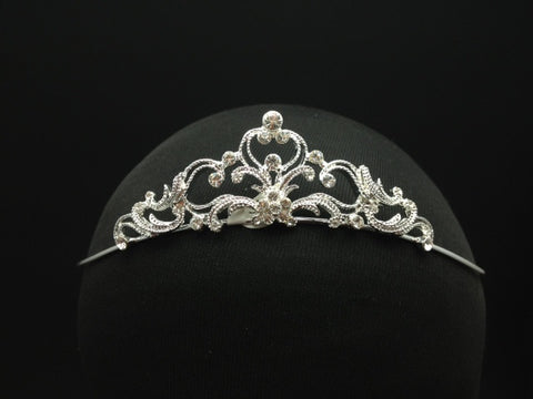 Delicate Tiara with Crystal Details