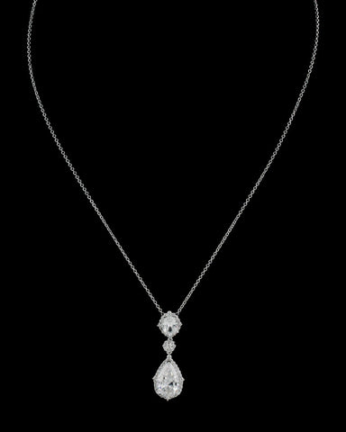Swarovski Element Double Drop Pendant