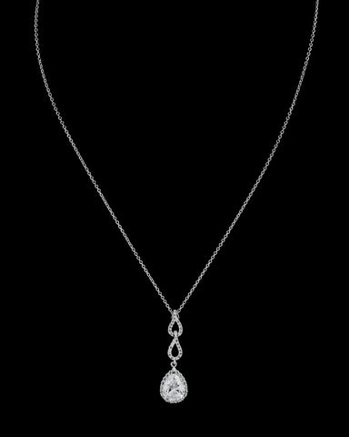 Triple Pear Drop Pendant Necklace