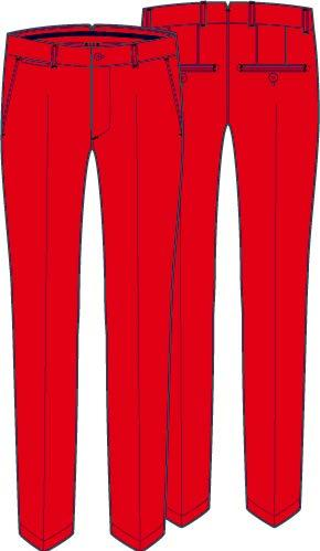 Red ELLOTT Regular FIT MICRO STRETCH - MEN'S / SS18