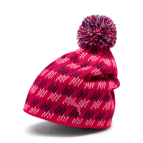RED 'PWRWARM' Pom GOLF Beanie - WOMEN / OUTLET