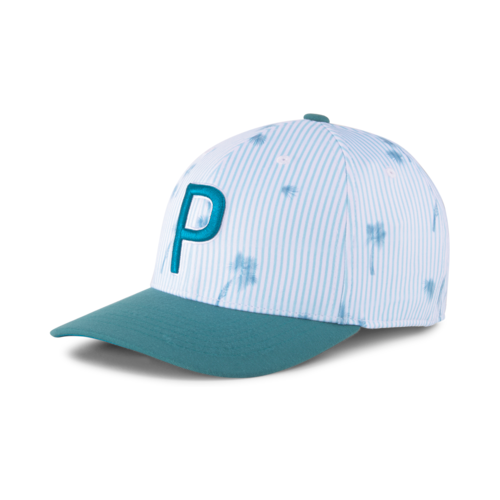 WHITE/BLUE 'SEERSUCKER' P 110 SNAPBACK GOLF CAP  - PGA CHAMPS