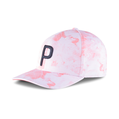 WHITE 'BLOOM' P SNAPBACK CAP - 2021