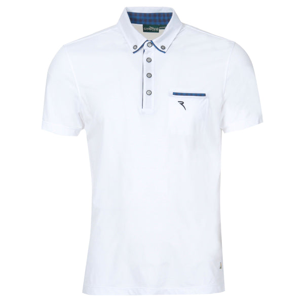 WHITE ARRIGO ULTRA LIGHT PIQUET POLO - MEN's / SS18