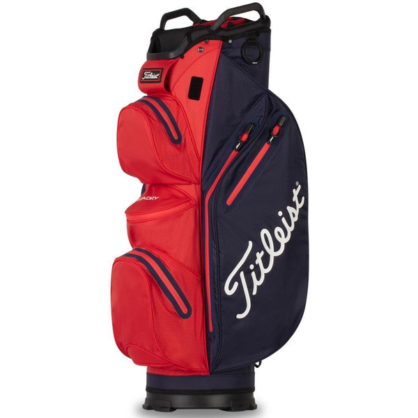 Navy/Red 'CART 14' STADRY GOLF BAG