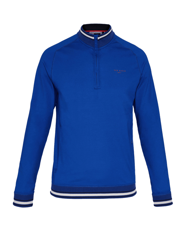 Bright Blue  'COMP' Long Sleeve Half-Zip Funnel Neck - Men's / SS18