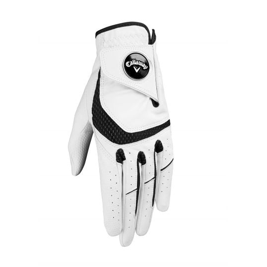 WHITE 'SYNTECH' GOLF GLOVE - MEN