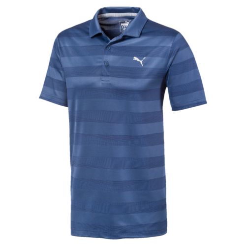 NAVY 'Alterknit' Stripe Golf Polo - MEN / SS20