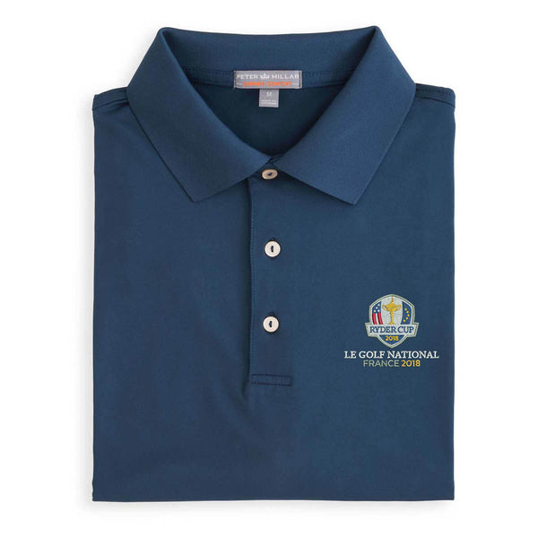 Ryder Cup Solid Stretch Jersey Polo With Knit Collar - 2018