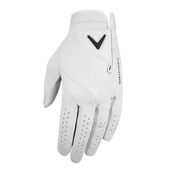 WHITE 'TOUR AUTHENTIC' GOLF GLOVE - MEN