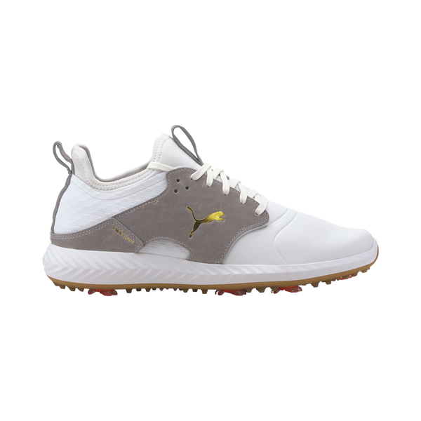 White 'IGNITE PWRADAPT Caged Crafted' Spiked Golf Shoe (Water Resistant) - MEN