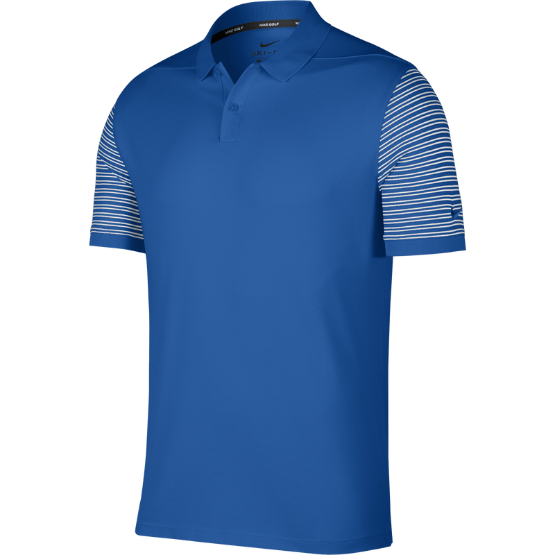 BLUE NEBULA/WHITE Dry Golf Polo (Regular Fit) - MEN / OUTLET