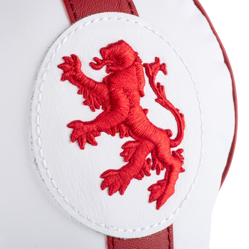 White 'England' Leather Driver Headcover  - Limited Edition