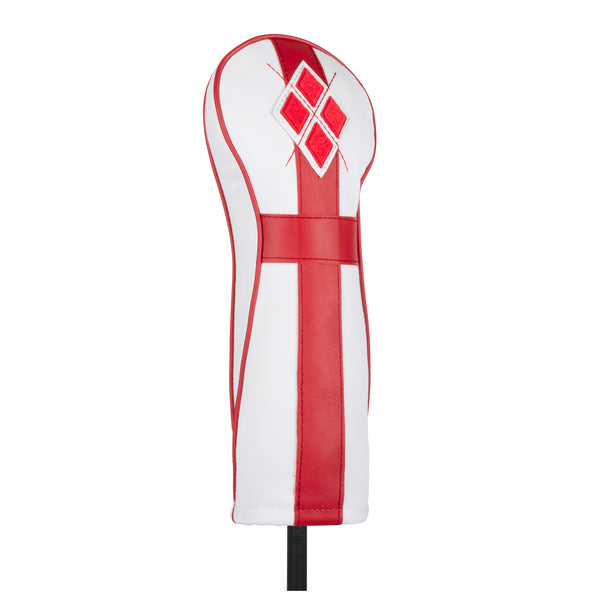 White 'England' Leather Fairway Headcover  - Limited Edition