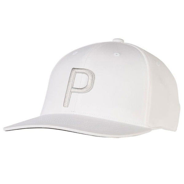 WHITE 'P' Snapback Golf Cap - MEN / SS20