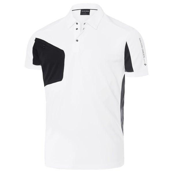 WHITE MANNIX VENTIL8 PLUS GOLF POLO - MEN / OUTLET
