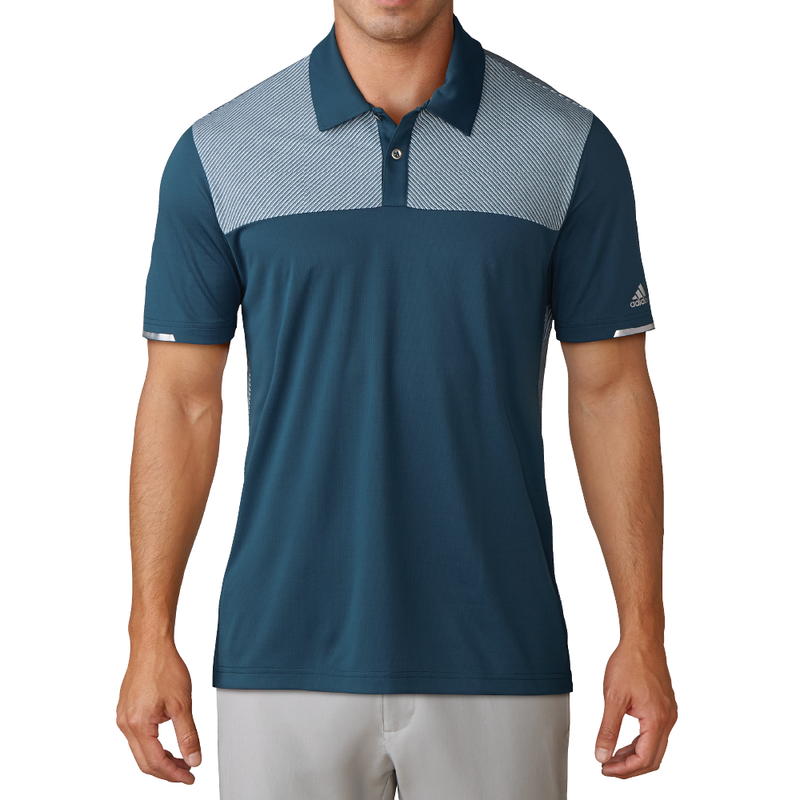 "PETROL NIGHT CLIMACHILLâ""¢ HEATHER BLOCK COMPETITION POLO - MEN / OUTLET"