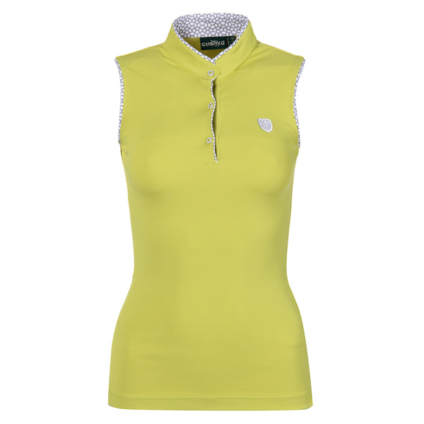 YELLOW ALYCE MINI RIB POLO - WOMEN / OUTLET